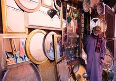 Artisanale winkel in Marrakech Stock Fotografie