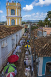 Artisans market in Trinidad, Cuba royalty free stock photography