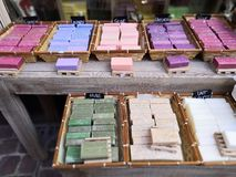 Artisans soap from flowers and perfume royalty free stock photo