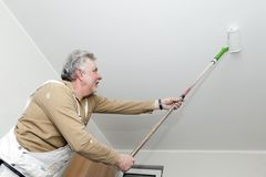 Artisans With Paint Roller Stock Image