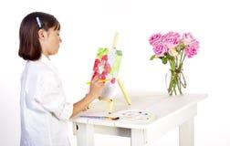 Artisitc little girl. Royalty Free Stock Image