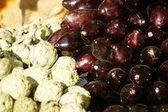 Artisjok & aubergine Stock Foto
