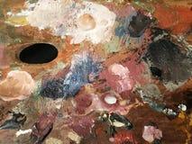 Artist's palett Arkivbilder