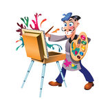 Artist. The artist which creates a masterpiece Royalty Free Stock Photography