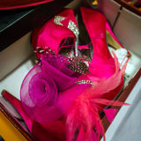 Artist accessories all in pink color Stock Image
