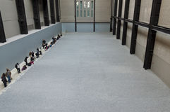 Artist Ai Weiwei's work in the Turbine Hall Royalty Free Stock Photography