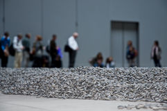 Artist Ai Weiwei's work in the Turbine Hall Royalty Free Stock Images