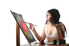 Artist At Work Royalty Free Stock Photography