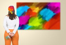 Artist from the back Royalty Free Stock Photo