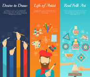 Artist Banner Set Royalty Free Stock Photography