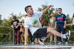 Artist break dance Stock Images