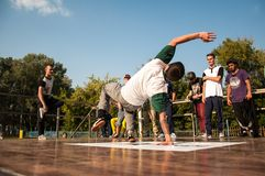 Artist break dance Royalty Free Stock Photography