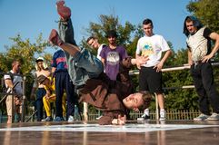 Artist break dance Royalty Free Stock Images