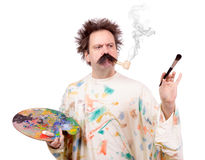 Artist with brush royalty free stock image