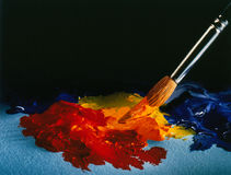Artist Brush and Oils Stock Images