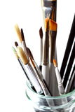 Artist brushes. Photograph of a selection of artist brushes Stock Photography