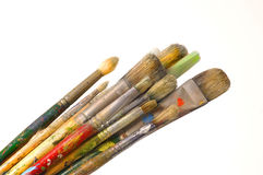 Artist brushes. Group of artist brushes Stock Photos
