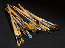 Artist brushes for painting Royalty Free Stock Photo