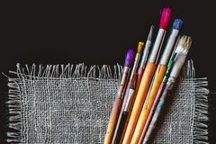 Artist brushes for painting Royalty Free Stock Photos