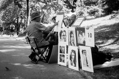 Artist in Central Park Stock Image