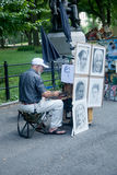 Artist in Central Park Royalty Free Stock Photography
