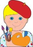 Artist Child Boy Stock Image