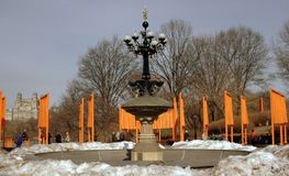 Artist Christo's The Gates in NYC's Central Park Stock Images