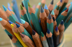Artist colored pencils stock images