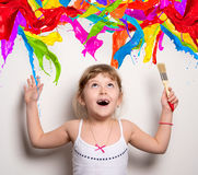 artist with colors Stock Image