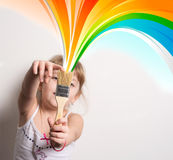 artist with colors Stock Images