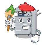 Artist copier machine in the cartoon shape. Vector illustration royalty free illustration