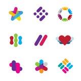 Artist creative process logo illustration inspiration company symbol icons logo Stock Images