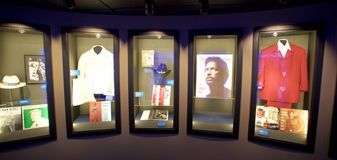 Artist display at the Blues Hall of Fame Building in Memphis, TN Royalty Free Stock Images