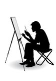 Artist draws Royalty Free Stock Images