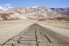 Artist drive, Death valley, California Royalty Free Stock Photo