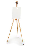 Artist easel with blank canvas Stock Photos