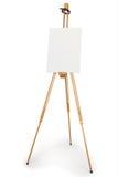 Artist easel with blank canvas Stock Photos