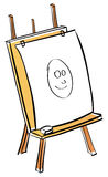 Artist easel cartoon Stock Image