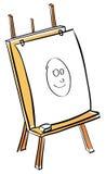 Artist easel cartoon Stock Image