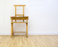 Artist easel covered in paint in a clean studio. Artists easel on white background Royalty Free Stock Images