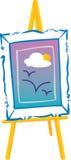 Artist Easel Stand stock illustration