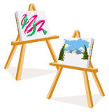 Artist Easels Royalty Free Stock Photo