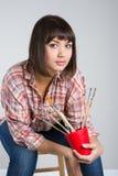 Artist-girl Stock Image