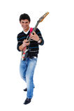 The artist and is guitar. Stock Photography