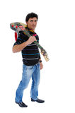The artist and is guitar. Stock Photos