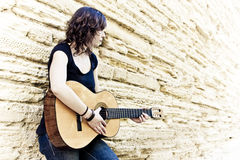 artist guitar playing street Στοκ Εικόνα