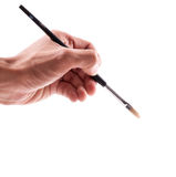 Artist Hand. With Paint Brush royalty free stock image