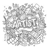 Artist hand lettering and doodles elements emblem Royalty Free Stock Photo