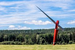 Energy Art in the outskirts of Bayreuth stock photos