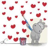 Artist Hippo Stock Image